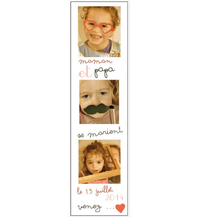 Faire-part photomaton photo enfant retro