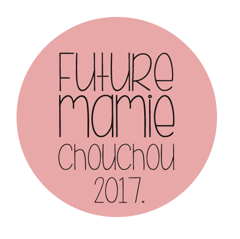 Badge annonce grossesse future mamie chouchou