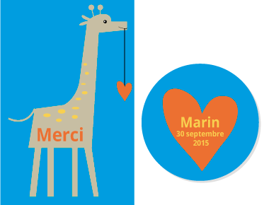 Faire-part Girafe - Faire Part Magnet  - 3