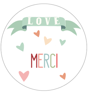 Badge Merci - Faire Part Magnet