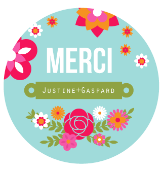 Badge Merci Justine+Gaspard - Faire Part Magnet