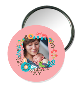 Badge miroir de poche maman - Faire Part Magnet