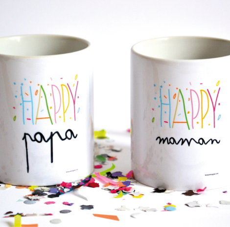 Mug Happy maman et Happy papa