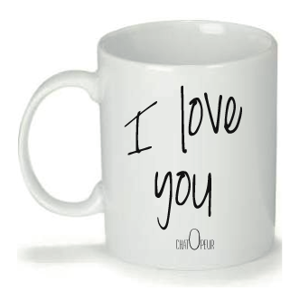 "Mug personnalisé Design ""Chatopeur"" I love you"