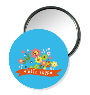 Badge miroir de poche - Faire Part Magnet  - 1