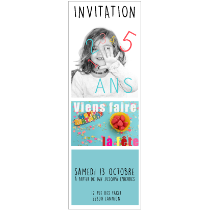Faire-part photomaton anniversaire