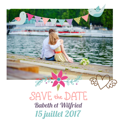 Save the date Babeth et Wilfried