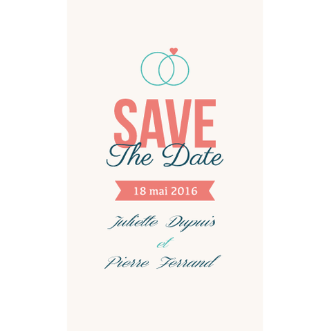 Save the date Juliette + Pierre