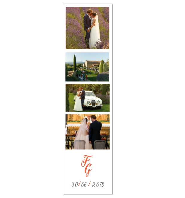 Save the date photomaton mariage chic