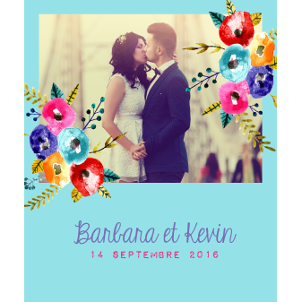 Save the date mariage original Barbara+Kevin
