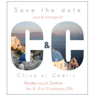 Save the date mariage Elie et Jeanne
