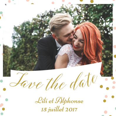 Save the date Alphonse et Lili