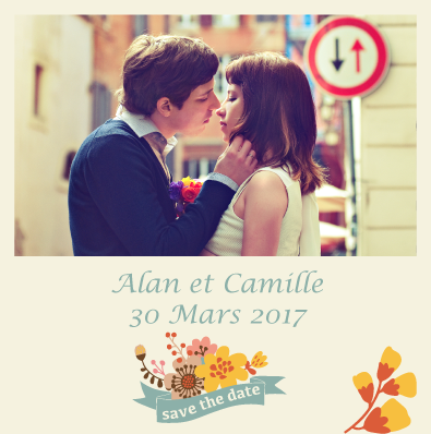 Save the date Camille et Alan