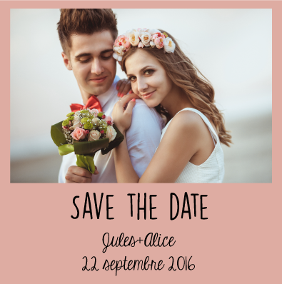 Save the date Alice+Jules
