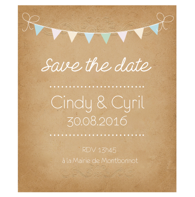 Save the date mariage original
