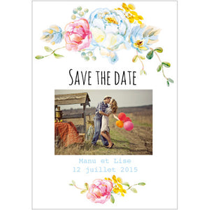 Save the date Manu + Lise - Faire Part Magnet