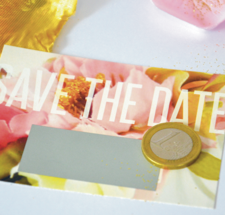 Carte a gratter save the date mariage