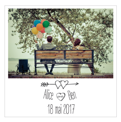 Save the date Alix+Yves