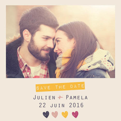 Save the date Julien + Pamela - Faire Part Magnet
