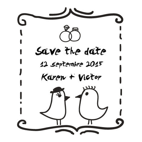 Save the date Karen + Victor - Faire Part Magnet