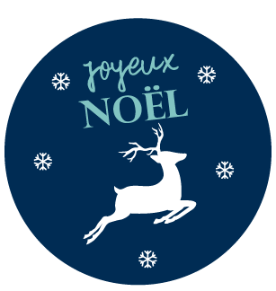 Sticker rond cerf
