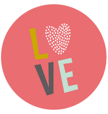 Sticker rond love