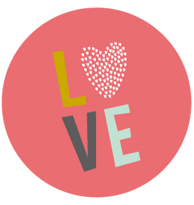 Sticker rond love - Faire Part Magnet