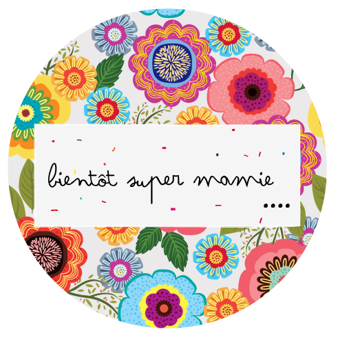 Badge cadeau Super mamie - Faire Part Magnet
