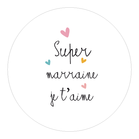 Badge cadeau pour la Super Marraine