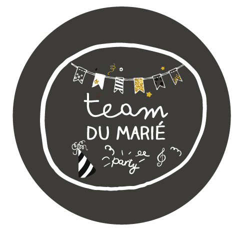 Badge team témoin du marié