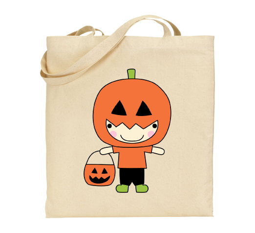 Tote bag Halloween citrouille