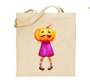 Tote bag grosse citrouille