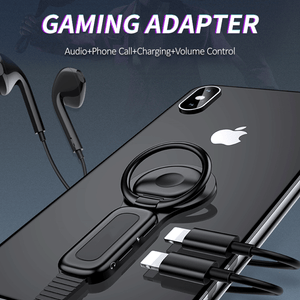 Headphone Adapter Ring Holder Dual Lightning Adapter & Ring Holder