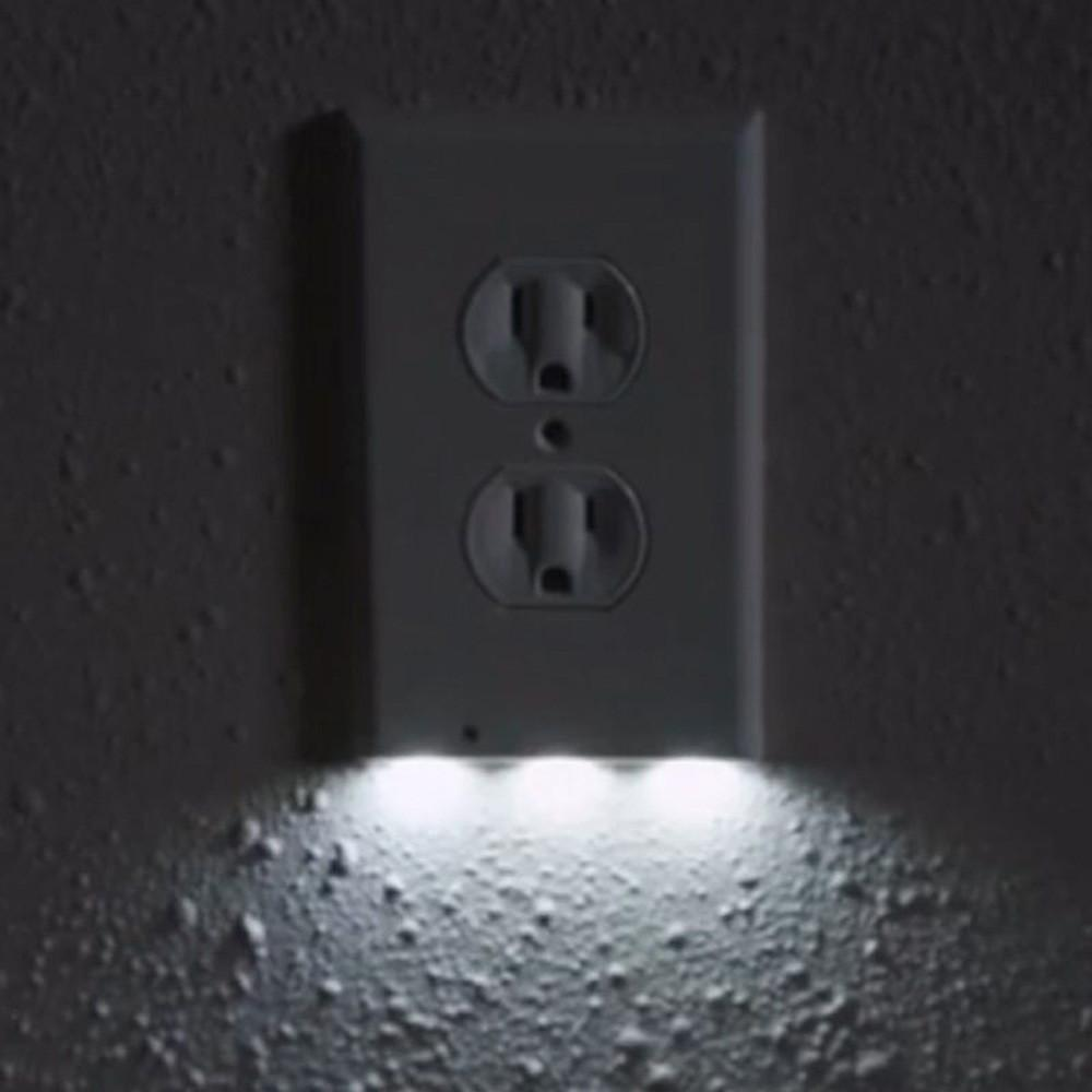 LED sensor night light socket cover