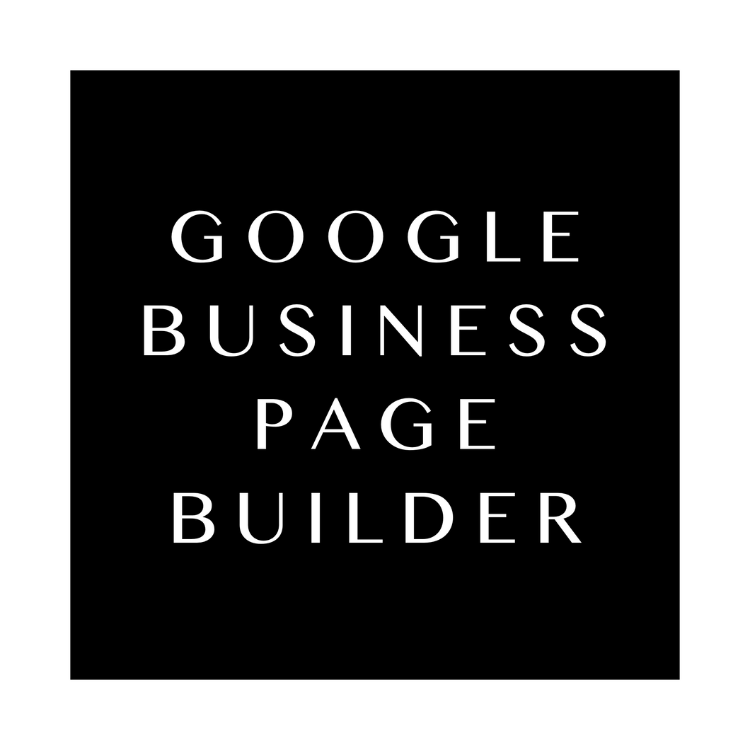 Google Business Page Builder