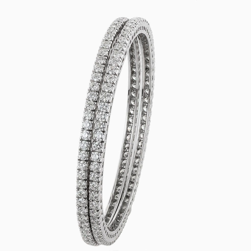 BNG0005 3 Pointer Eternity Diamond Bangles