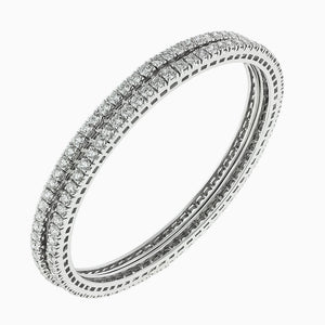 BNG0005 8 Pointer Eternity Diamond Bangle D-E-F Color