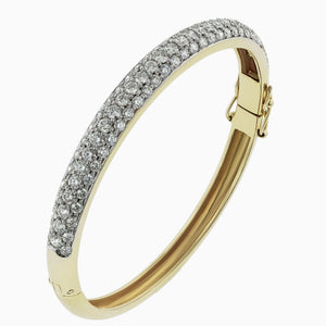 BNG0040 Pave Set Yellow Gold Diamond Bracelet