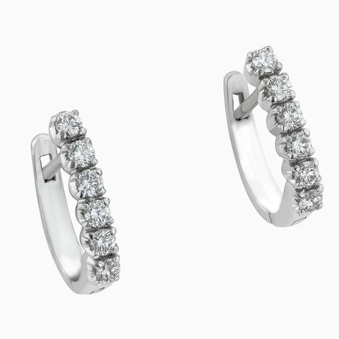 ERB0006 Ethereal White Gold Diamond Earring Balli