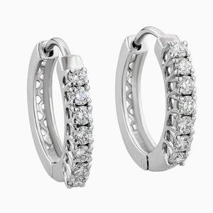 ERB0011 Elegant White Diamond Earring Balli