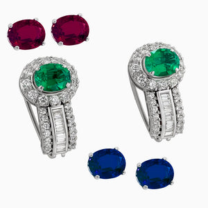 ERB0039 Emerald Fusion Diamond Earring Ballis