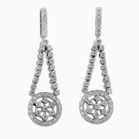ERH0026 Hanging Mesh Diamond Earrings