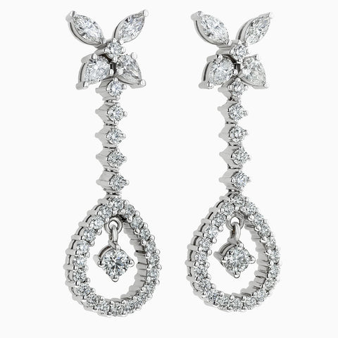 ERH0113 Star Hanging Diamond Earrings