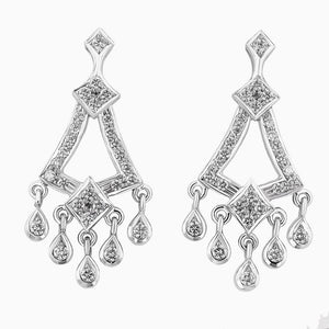 ERH0153 Hanging Diamond Earrings With Diamond Drops