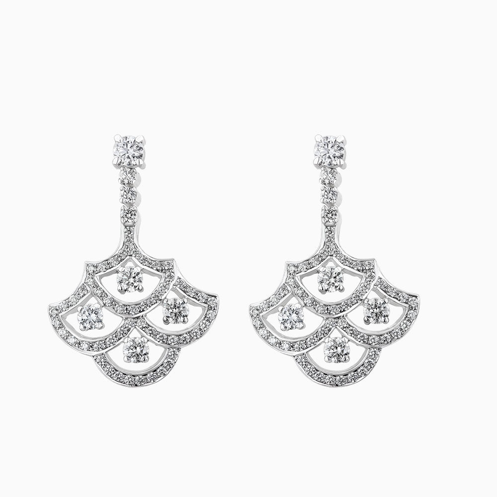 ERH0409- Diamond Chandelier Hanging Earrings