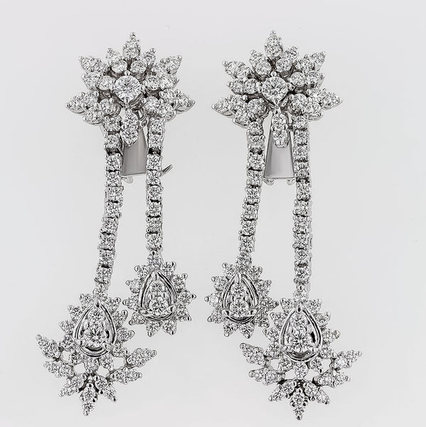 The image of the hanging diamonds earrings erh0430