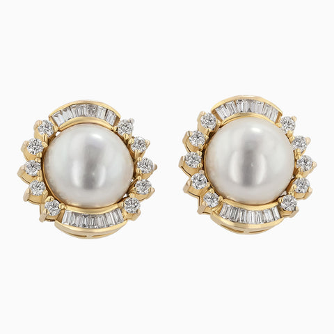 ERR0017 Pearl & Diamond Earrings