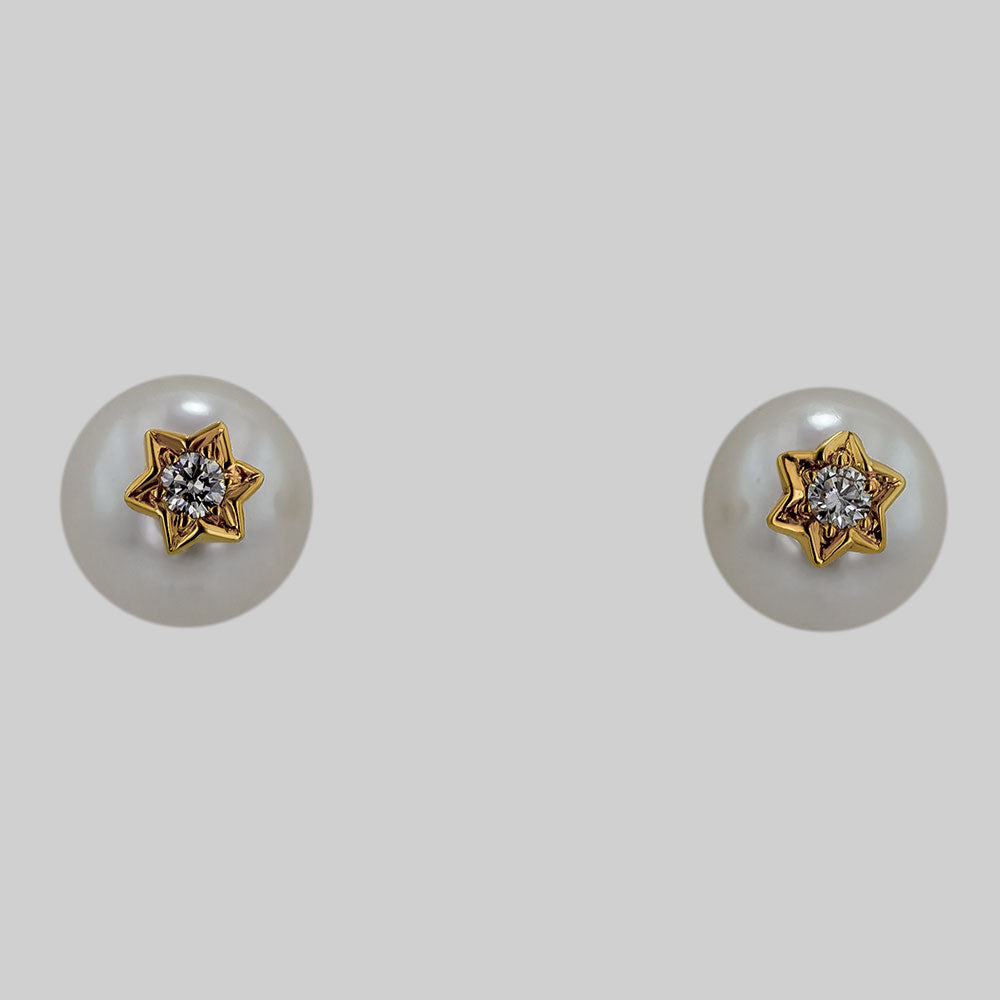 Image for the pearl and diamond earrings err0026