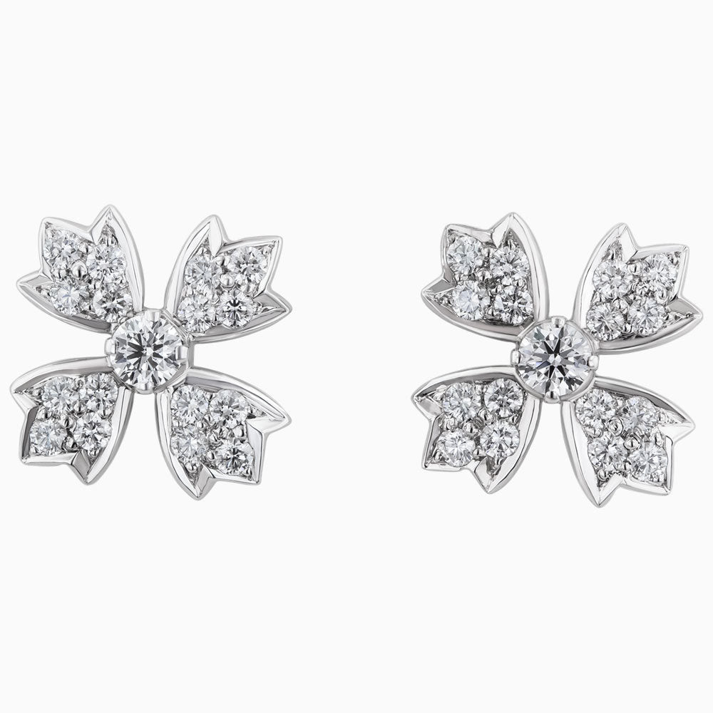 ERR0028 Diamond Earring with Maple Leaves