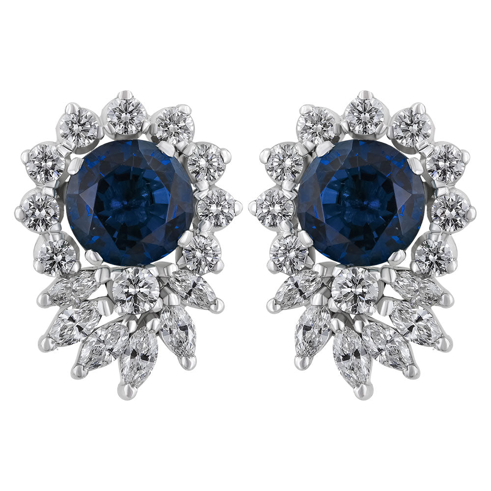 ERR0167  Diamond Earrings With Marquise & Replaceable Color Stones
